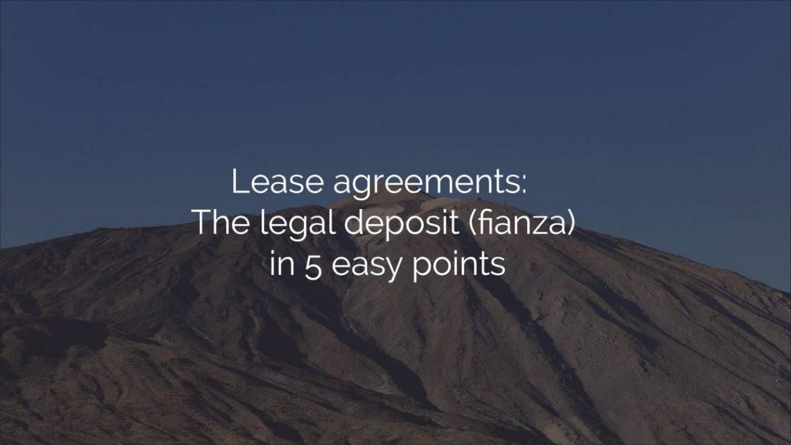 lease agreement legal deposit fianza