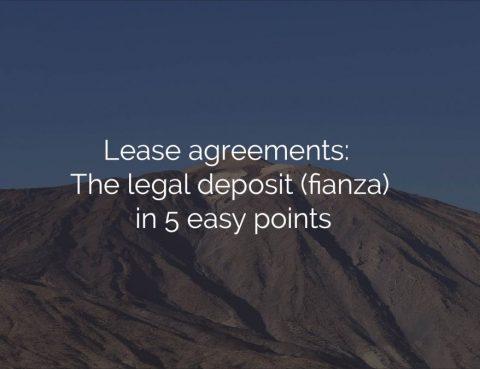 lease agreement legal deposit fianza